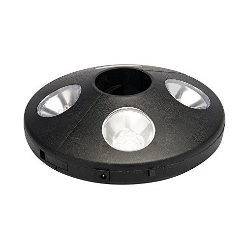 LED-Sonnenschirmlampe mit 24 LEDs für Schirmstangen Ø 33 - 55 mm