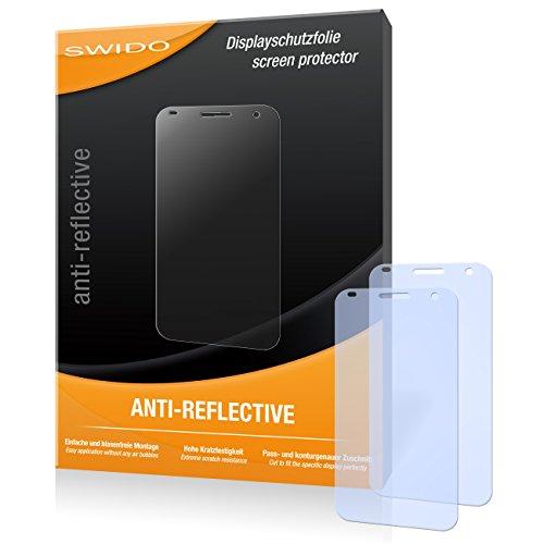 SWIDO Bildschirmschutz für Huawei Ascend G7 [4 Stück] Anti-Reflex MATT Entspiegelnd, Hoher Härtegrad, Schutz vor Kratzer/Glasfolie, Schutzfolie, Bildschirmschutzfolie, Panzerglas Folie