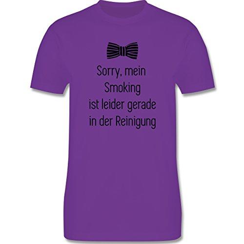 Statement Shirts - Sorry, mein Smoking ist in der Wäsche - Herren Premium T-Shirt Lila