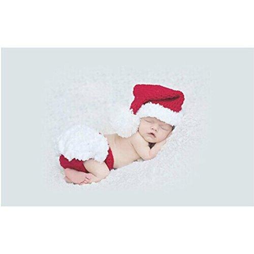 FENICAL Baby Kostüm Outfits Fotografie Requisiten Weihnachten Stricken Häkeln Kleidung Foto Prop Outfits für jungen Mädchen (Mädchen-kleidung Gap Baby)