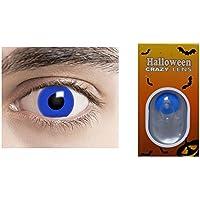 19251c6dd09354 lentilles pour Halloween de annuelles valables 1 an Couleur sans Correction  Fantaisie Crazy déguisement (Ice