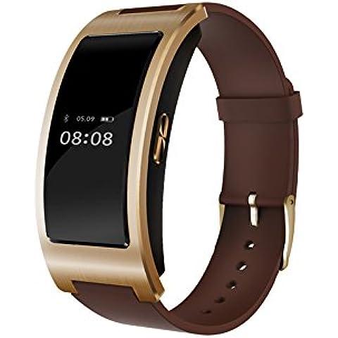 Wallner CK11 intelligente braccialetto di vigilanza Banda Blood Pressure Monitor frequenza cardiaca Contapassi fitness intelligente Wristband(Oro)