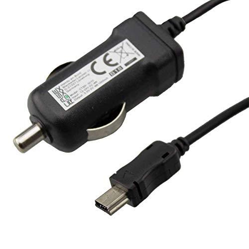 Caricabatteria da auto per telefono cellulare Caseroxx Navigations Ladegerät per Garmin nüvi 1200, Cavo di ricarica di alta qualità con adattatore per la ricarica dell'accendisigari o presa 12V