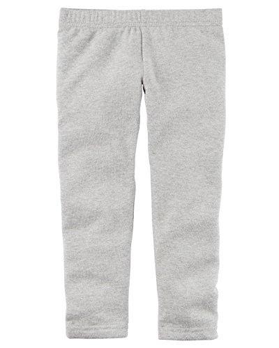 Carters Girl Sparkle Cozy Fleece Leggings (Gray, 3T) (3t-fleece)