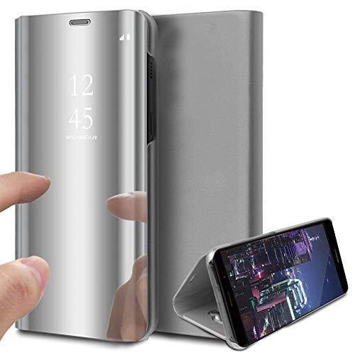 Hpory Handyhülle kompatibel mit Samsung Galaxy A40 silber
