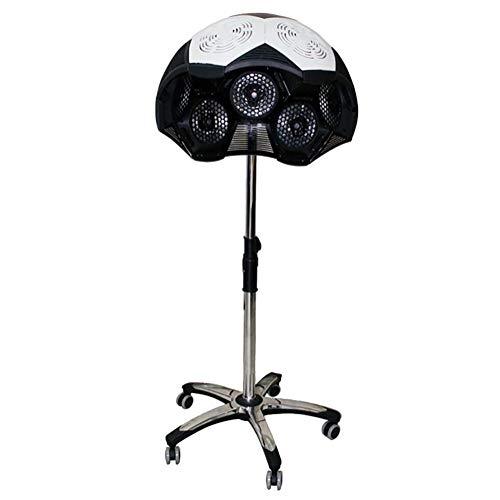 GXJ 950W Orbital Cabello Color Procesador Secador Color Procesador Acelerador Plato Calentador Salón Barbero Ajustable Capucha con Ruedas