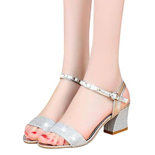 Sandalias de Tacon Alto de Elegantes para Mujer, Zapatos de Tacon Fiesta Sandalias de Vestir Boda Novia...
