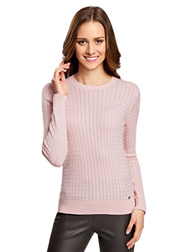 oodji-collection-womens-fine-cable-knit-pullover-pink-uk-12-eu-42-l