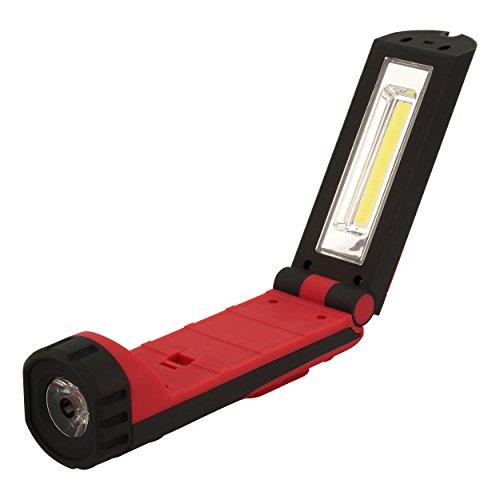 HyCell LED Werkstattlampe flexibel, magnetisch & kabellos - Profi Arbeitslampe mit 255 Lumen - Vielseitige LED Taschenlampe 3W für Auto & Werkstatt Zubehör - LED Arbeitsleuchte inkl. AAA Batterien