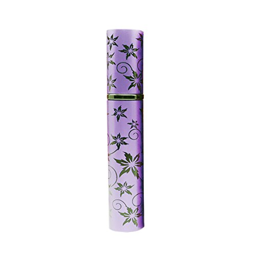 Tenflyer 8ML fleur de style Parfum Vaporisateur Rechargeable Mini Perfume Bottle Rouge / Bleu / Violet / Sliver / Rose / Jaune