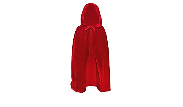 Medieval Hooded Halloween Cloak Cape Wizard Vampire Witch Red Riding Hood Death
