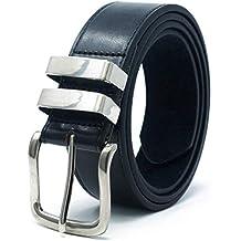 Ossi 38mm Jean double boucle ceinture pour homme - noir, brun ou tan (82cm 3bf12c2a633