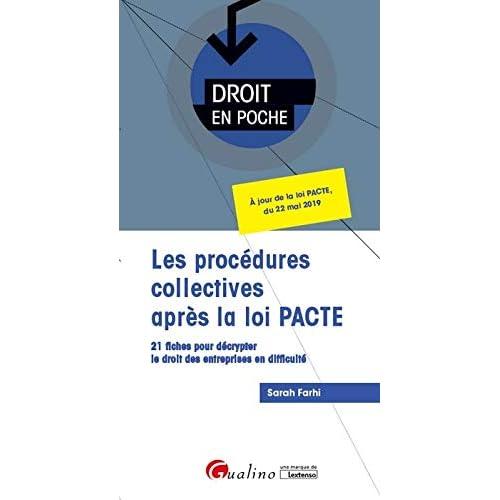 Les procédures collectives après la loi PACTE
