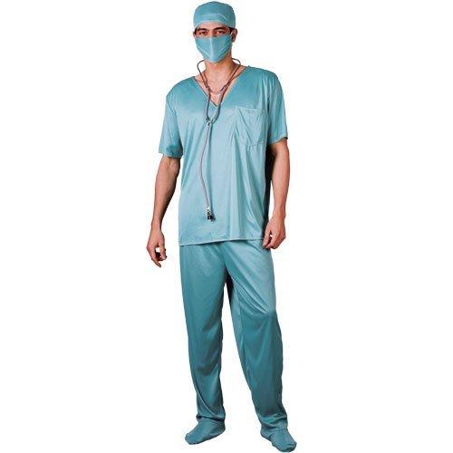 (XL) Herren ER Chirurg Kostüm für 999Ärzte Krankenschwestern Fancy Kleid Mans Stecker (Er Kostüm Chirurg)