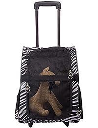 YOUJIA Bolso Transportin Carrito Perro Bolsos de viaje 2 en 1 Mochila Carrito para Mascotas Perros Gato Cebra, M (36*43*23cm)
