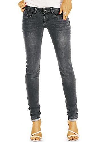 bestyledberlin Damen Röhrenjeans, Enge Stretch Jeans, Basic Skinny Hüftjeans j14l 36/S