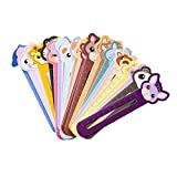 YeahiBaby 30Pcs Multifunctional Bookmark Animal Book Marker Ruler for Kids Students Gifts