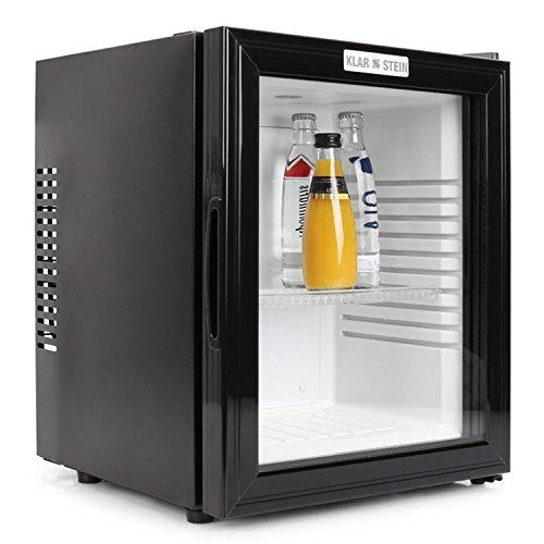 Klarstein MKS-12 Mini Kühlschrank Minibar Getränkekühlschrank (0 dB, 24 Liter, Glastür, 1 x Einschub) mattschwarz