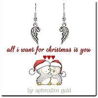 Biglietto di Natale con gioielli in argento tibetano calza della Befana & # x2665; & # x2665; & # x2665; All I Want for Christmas Is You & # x2665; & # x2665; & # x2665;