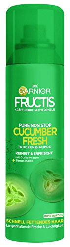 Garnier Fructis Cucumber Fresh Trocken Shampoo, 3er Pack (3 x 150 ml)