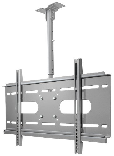 My Wall HP3-1L Ceiling Mount for Flatscreen VESA Monitor 58 cm (23 Inch) to 94 cm (37 Inch) Capacity 56 kg Silver