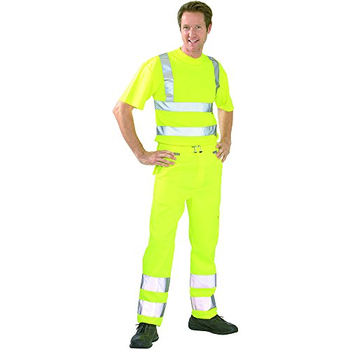 Planam Bundhose Warnschutz, Größe 44, 1 Stück, gelb, 2012044 gelb