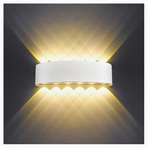 NHX LED Wandleuchte Aussen Innen IP65 12W Modern Wandlampe Aluminium Up Down Spotlicht Wandlicht Für Schlafzimmer Wohnzimmer Bad Flur Treppe -Warmes Licht