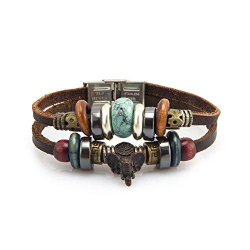 fairy-couple-bijoux-bracelet-en-cuir-antique-elphant-handmade-en-bois-et-turquoise-artificiel-l185