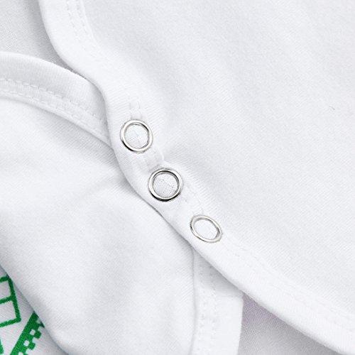 Ropa Bebé, Manadlian Ropa bebé otoño invierno Bebé recién nacido niñas niños trajes mameluco juego de ropa 0-18 Mes (0-3M, Blanco)