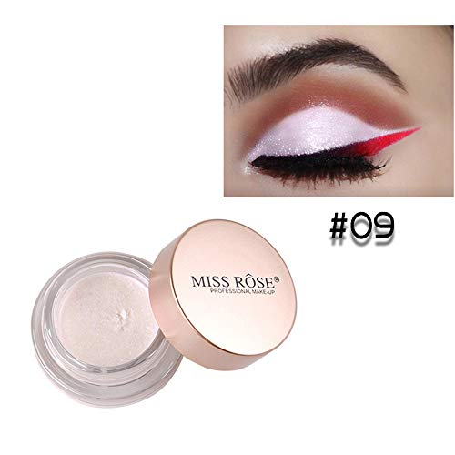 Huihong MISS ROSE 10 Farben Mermaid Glitter Matte Lidschatten Make Up Kosmetik (M9)