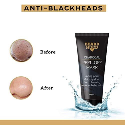 Beardhood Charcoal Peel Off Mask, Black, 60g