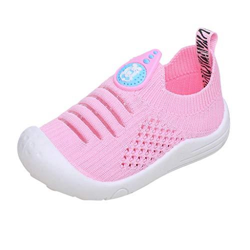 Alwayswin Unisex - Kinder Atmungsaktive Sportschuhe Socken Schuhe Jungen und Mädchen Fliegen Gewebte Hohle Einzelne Schuhe Feste Weiche Mesh Turnschuhe Solide Slip-On Sneaker