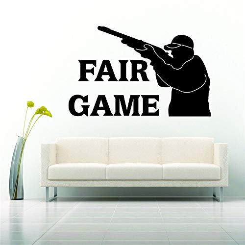 Vinyl Aufkleber Aufkleber Design Fair Game Gun Hunt Hunter Wohnung Wandaufkleber 58 * 91 cm ()