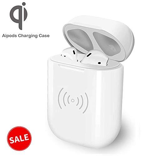 Estuche de carga para Airpod, caja de repuesto para el cargador COSOOS Airpod con baterías integradas (fuente de alimentación inalámbrica no incluida, sin botón de sincronización)