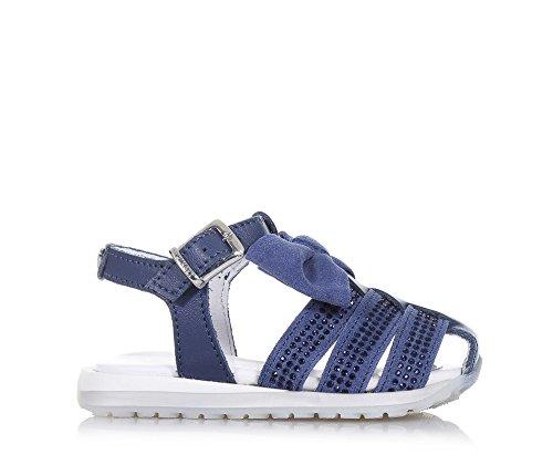 TWIN-SET – Blauer Schuh aus Wildleder und Leder, phantasievoll und modisch, mit Schnallenverschluss, auf der Vorderseite, Mädchen - 2