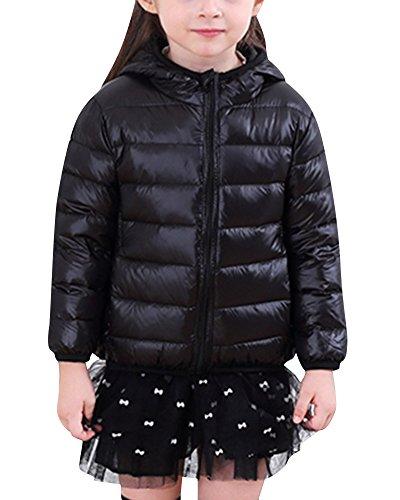 Zoerea Kinder Daunenjacke Mädchen Winterjacken Verdickte Winddicht Lang Jacke mit Kapuze Warm Outerwear