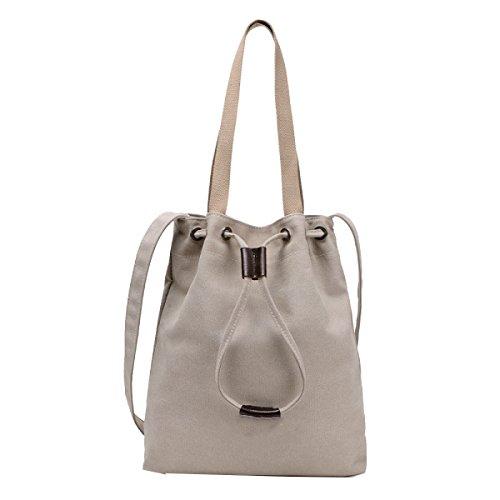 Yy.f Einfache Leinwand Handtaschen Sporttaschen Handtaschen Diagonal Segeltuchtaschen Retro Freizeit Handtaschen Bunte Taschen Beige