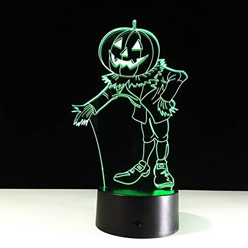 (Halloween Kostüme Kürbisse 3D Nachtlicht Acylic Visuelle Led Usb Schreibtisch Tischlampe Für Zuhause Atmosphäre Lampe Baby Schlaf Beleuchtung)