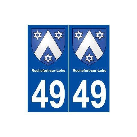 49rochefort-sur-loire-escudo-adhesivo-placa-stickers-ville-redondeados