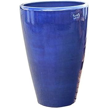 Pflanzkübel,Vase,blau,frostfest!!!!!50cm hoch,mit kleinen Fehlern ...