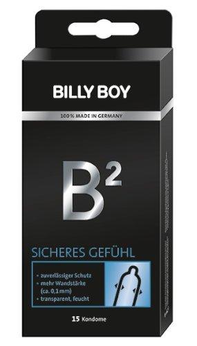 Billy Boy B² Sicheres Gefühl Kondome mit 0.1mm Wandstärke. 15er Packung. 15 Kondome -