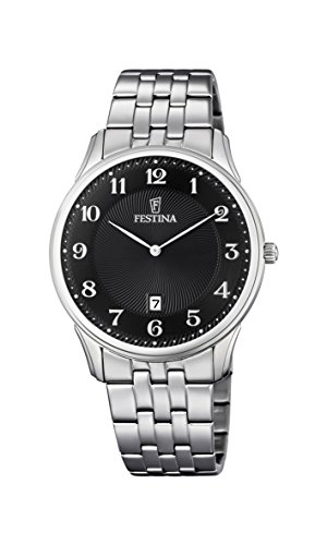 Festina Unisex Quartz Watch Analogue Display and Stainless Steel Strap F6856/4