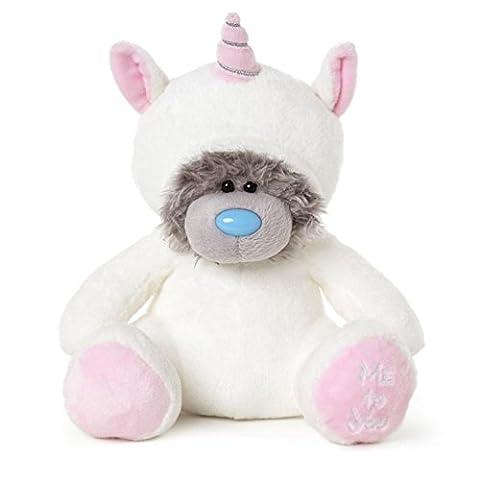 Super Cute Me To You Grey Plush Medium Tatty Teddy Bear Dress Up in Onsie Unicorn