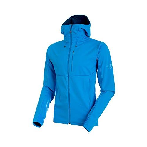 Mammut, Herren Softshell-Jacke Ultimate V mit Kapuze, blau (imperial-jay melange), L