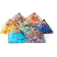 Reiki heilende Energie geladen Kristall Chakra Energetische Pyramide Set (je 2cm Pyramide ca.) preisvergleich bei billige-tabletten.eu
