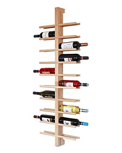 Buche, Weinflaschen Wandhalter, Wand, Design, Modern ()