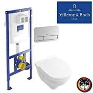 Villeroy & Boch WC Element Vi-Connect+ CROM Platte + Combi-Pack Spülrandlos O.Novo C-plus
