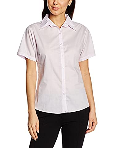 Premier Workwear Ladies Short Sleeve Poplin, Blouse Femme, Lilas, 44 (taille Fabricant: 16)