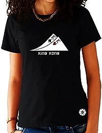T-shirt Femme Poker Noir - Paire de Rois King Kong