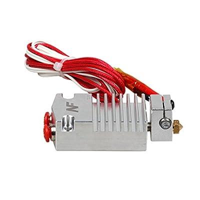 Gazechimp 2 Ein 1 Aus Hotend Extruder-Kit Glühfaden Druckkopf Kühlkörper mit Kabel für 3D-Drucker - 1.75mm